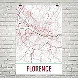 Moderne Karte Kunst Florenz Poster, Florenz Kunstdruck, Florenz Wandkunst, Florenz Karte, Florenz Stadtplan, Florenz Italien Stadtplan Kunst, Florenz Geschenk, Florenz Dekor, (12