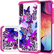 Ueokeird Designed for Galaxy A50 Case/Galaxy A50 Case Girls Women, Shockproof Defender Heavy Duty Phone Cover