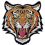 La Roaring Del Bengala Striato Tigre Distintivo Ricamato Applicazioni Il Ferro Su Cucia Sulla Toppa Patch
