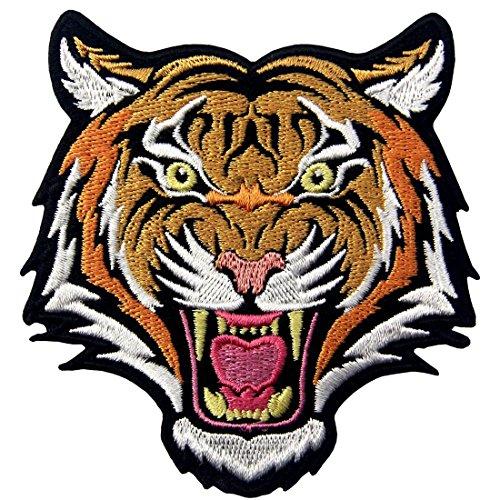 Frau Mann Eisen 2 Kostüm - Der Brüllende Bengal Gestreifte Tiger Stickte Abzeichen Eisen Auf Nähen Sie Auf Flecken