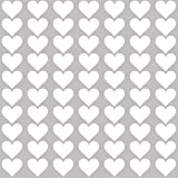 Wandtattoo Herzen Aufkleber,Kinderzimmer Wandsticker Set Herzen,Herz Wandaufkleber Sticker f/ür M/ädchen Babyzimmer//Kinderzimmer Schlafzimmer Deko,Grau,4CM,60St/ück Grau