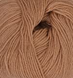 #4: LOVABLE Acrylic Hand Knitting Yarn (Brown) (200gms)