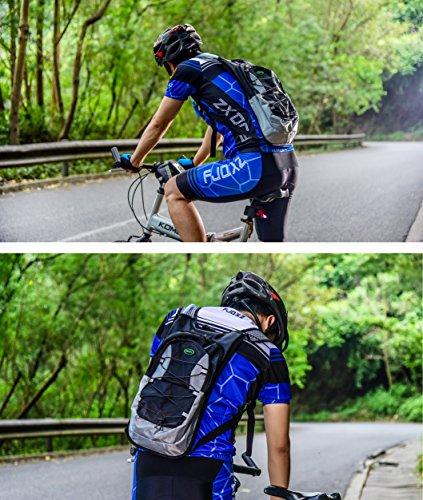 Juboury Trinkrucksack - Hydration Pack mit 2L Trinkblase zum Laufen, Wandern, Radfahren und für alle anderen Outdoor-Sportarten während der Sie trinken sollten Schwarz