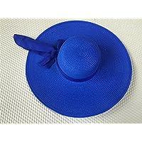 osisdfwa la Playa Playa Sombreros Sombreros Large Cap Fallen a lo largo del Bow Tie Round Top grandes Eaves Tapa, Sapphire Blue