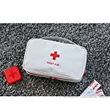 Gudelaa First Aid Bag Roomy Empty Kit Borsa Medicina Borsa per Home Office Viaggi Camping Sport Borsa portatile grigia