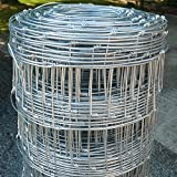 Wire Stock Fencing 0.8m x 50m C8/80/15 – Pig Lamb Sheep Dog Livestock Farm Paddock Boundary Fence