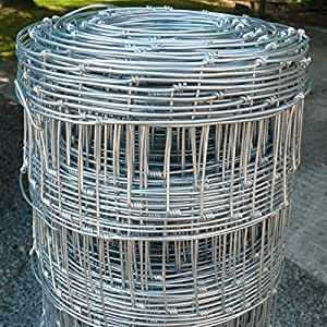 Wire Stock Fencing 0.8m x 50m C8/80/15 - Pig Lamb Sheep Dog Livestock Farm Paddock Boundary Fence
