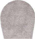 Grund Badteppich 32 mm 100% Polyacryl, ultra soft, rutschfest, ÖKO-TEX-zertifiziert, 5 Jahre Garantie, LEX, WC-Deckelbezug 47x50 cm, taupe