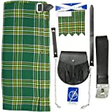 Tartanista - Ensemble kilt 5 pièces - kilt, sporran, épingle, ceinture, flashes - UK46 (117 cm)