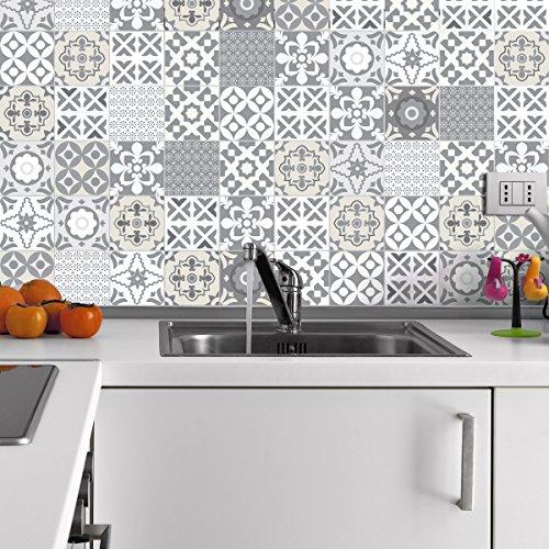 Ambiance-live quadretti di cemento adesivo parete–azulejos–20x 20cm–60pezzi