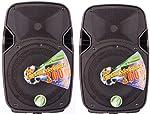 Technosound TK08A coppia casse attive amplificate woofer 8 pollici 200w di picco per feste, pianobar, karaoke occasione - Polaris Audio Hi Fi