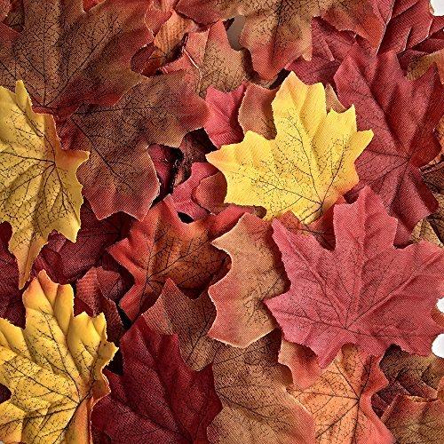 YEJI Rosenblätter aus Hauptsächlich Rot, Fall Künstliche Ahorn Blätter Dekor für Thanksgiving Herbst Hochzeit Party Tisch Decor