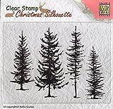 Find It Clear Stamps Pine Trees Stempeln Acryblock Weihnachten Kartengestaltung