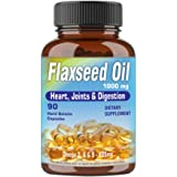 Walpar Cold Pressed Organic Flaxseed Oil 1000mg Omega 3 6 9-90 Capsules