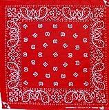 Tuch Paisleymuster Rot Kopftuch Bandana Halstuch Biker Sport Nickituch Kopfbedeckung ca. 51 x 51 cm Einseitig Bedruckt