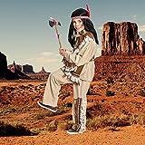 Kostümplanet® Indianer-Kostüm für Kinder mit Indianer Muster und Wilder Westen Fransen, Größe: 164 Farbe: braun, Verkleidung für Faschings-Kostüm, - Jungen Indianerkostüm -