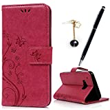 MAXFE.CO Lederhülle Leder Tasche Case Cover für HTC One