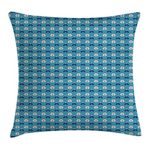 l Polyester Kissenbezug 18x18 Zoll Flache Design-Bienen-Leuchtkäfer-ordnungsgemäße Zusammensetzungs-geometrische Insekten,18x18 Zoll ()