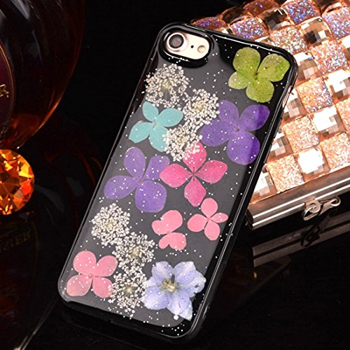 JING Pour iPhone 6 Plus et 6s Plus Epoxy Dripping Pressed Real Dried Flower Housse de protection TPU Soft Case arrière ( SKU : Ip6p2295c ) Ip6p2295l