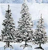 Kunsttanne Tannenbaum Weihnachtsbaum mit Schnee 180 cm dichtes Geäst ü5ü 563