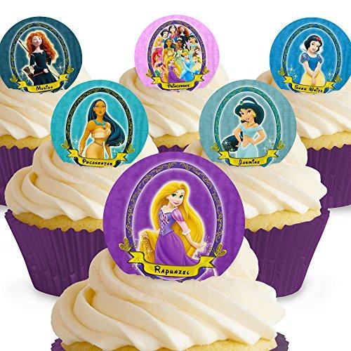 Cakeshop 12 x VORGESCHNITTENE UND ESSBARE Disney Princess Kuchen topper (Tortenaufleger)