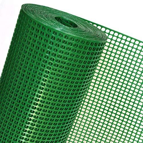 Filet de clôture en plastique pour petit animaux, protège contre le vent, 1 m de large, 6 mm x 9 mm, vert - OP08/100