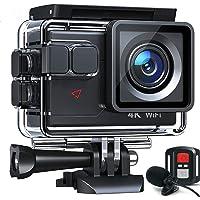 Action Cam AC700 4K 20MP WiFi Unterwasserkamera Ultra HD Wasserdicht 40M Sportkamera 2.0'LCD 170° Weitwinkel 2.4G…