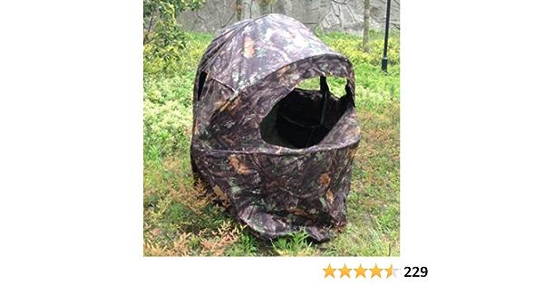 2/Hommes personnes Portable professionnelle Pop Up Ground Chasse Store Bois Camouflage Tente de fen/être de cadre en acier et Housse de transport