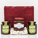 Natures Hampers Rosen Marmeladen & Konfitüre Geschenktasche - Marmelade Geschenkkorb - Marmeladengeschenk - Geburtstag für ihn - Geburtstag für sie - Hochzeitsgeschenk - Vegetarier Rose Geschenkkorb - Weihnachtsgeschenke - Weihnachtsgeschenk
