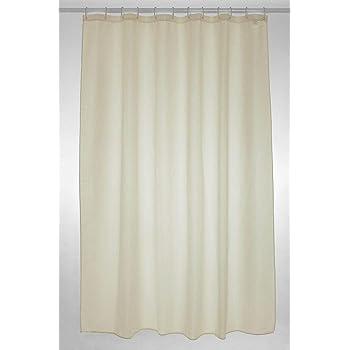 Plain Polyester Shower Curtain Size 180cm X Colour Cream