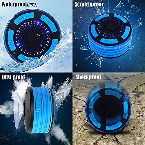BassPal-Shower-Speaker-IPX7-Waterproof-Portable-Wireless-Bluetooth-40-Speakers-with-Super-Bass-and-HD-Sound-Perfect-Speaker-for-Beach-Pool-Kitchen-Home-Blue