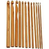 12 pièces Crochets Aiguilles à tricoter en bambou Crochet Hooks Needles