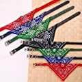 Wholesale Solutions Dog Bandana Collar Scarf Fashion Buckle All Colours & Sizes Faux Leather Size: Small Color: Red