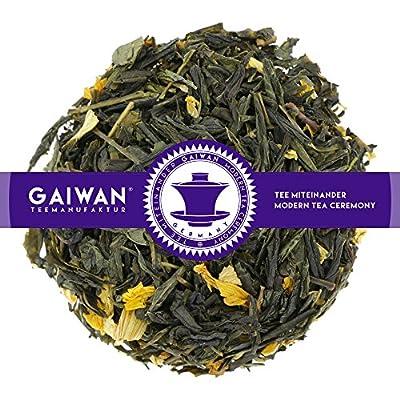 "N° 1346: Thé vert ""Pêche verte"" - feuilles de thé - GAIWAN® GERMANY - thé vert de Chine, tournesol"