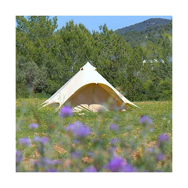 Boutique Camping Tents 5m Sandstone Star Bell Tent With Zipped In Ground Sheet 3