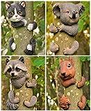 Garden Mile DIVERS FANTAISIE JARDIN ANIMAL ARBRE Voyeur Fantaisie Jardin ORNEMENTS JARDIN DÉCORATION ARBRE JARDIN SCULPTURE STATUES décor maison - Squirrel...