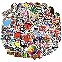 Cool Stickers Pack, 100 Pcs Vinyl Waterproof Stickers for Laptop, Luggage, Skateboard, Car, Motorcycle, Bicycle Decal Graffiti Patches 20190502