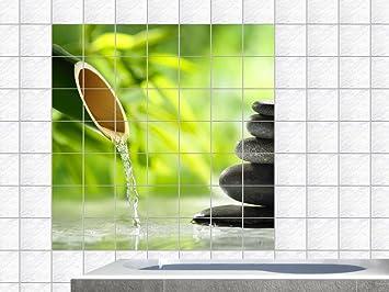 Wellness steine wallpaper  Fliesenaufkleber Fliesenbild Wellness Spa Bambus Steine Wasser ...