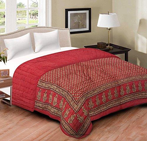 Shopnetix Jaipuri Razai / Rajai Double Bed Cotton Rajasthani Sanganeri Floral Print...