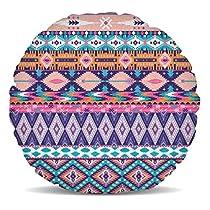 Parfait tendance Motif comprenant des tribales et des éléments géométriques dans de jolis tons pastels comme rose saumon, violet, et turquoise.Ce beau coussin de décoration d'intérieur est si doux et moelleux, vous ne peut pas résister caressant elle... [Méridienne]