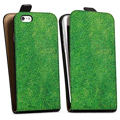 Apple iPhone X Silikon Hülle Case Schutzhülle Gras Rasen Grashalme Downflip Tasche schwarz