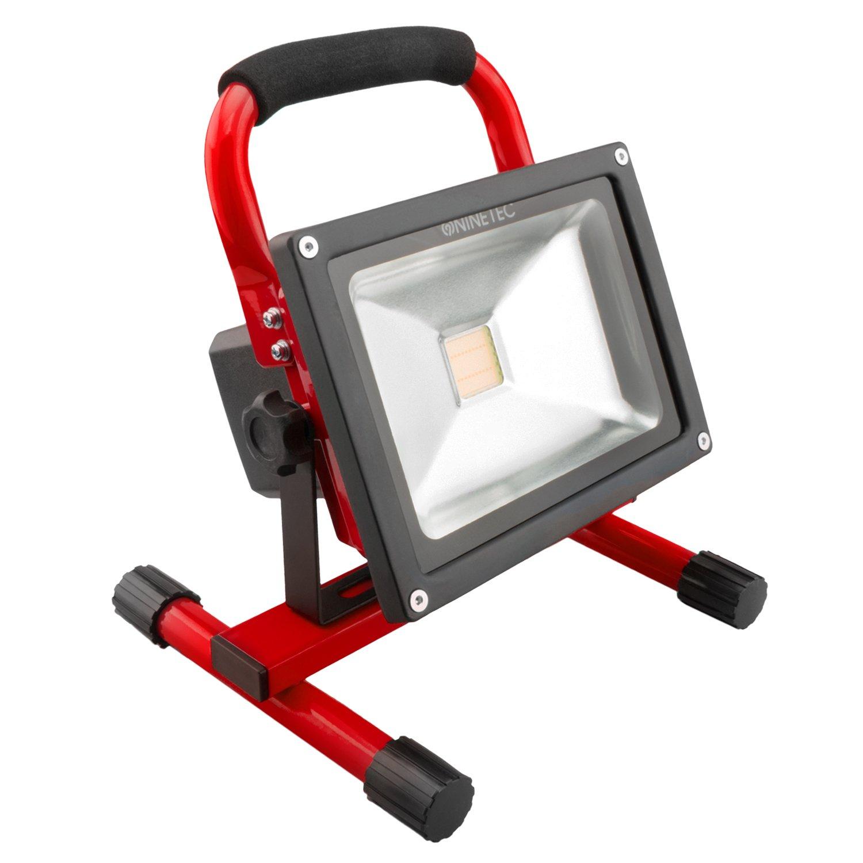 Relativ NINETEC 20W LED Flutlicht Fluter Lampe Außen Strahler kabellos  KA79