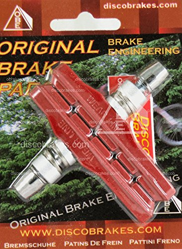 72mm Rot V Bremsbeläge passend für Shimano, Sram, Avid, Tektro, diacompe (Avid Single Digit)