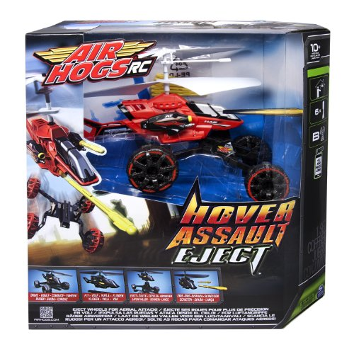 Air Hogs 6021467 - Hover Assault Eject, Disponibili in Vari Colori: Rosso o Nero