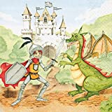 20 Servietten Training your dragon – Ritterkampf / Ritter / Drachen / Kindergeburtstag 33x33cm