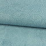 Stoffe Werning Baumwoll-Teddystoff Uni Jeansblau