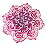 Asenart ® Mandala Beach Towel Print Beach Towel Tapestry Chiffon Tablecloth , Sofa Cover, Curtains Picnic Blanket Shawl Flower Round-Green