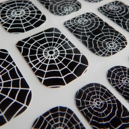 Hennen Nägel gelegentlichen Minx schicken Stil Gothic Halloween Finger Zehen Vinyl Folien Nail Wraps, Spider Web Print