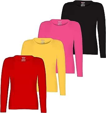 Kiddeo Girls' T-Shirt (Pack of 4)