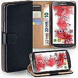 OneFlow Tasche für Samsung Galaxy S4 Active Hülle Cover mit Kartenfächern | Flip Case Etui Handyhülle zum Aufklappen | Handytasche Schutzhülle Zubehör Handy Schutz Bumper in Schwarz